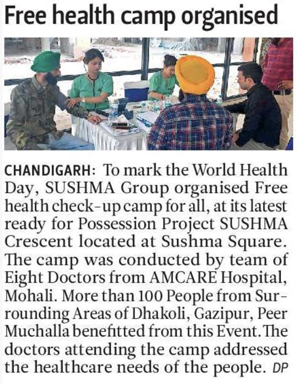 FREE HEALTH CAMP ORGANISED