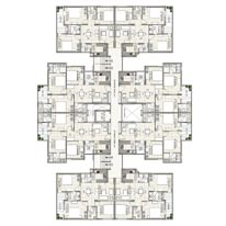 Cluster Plan 1270 Sq. Ft.